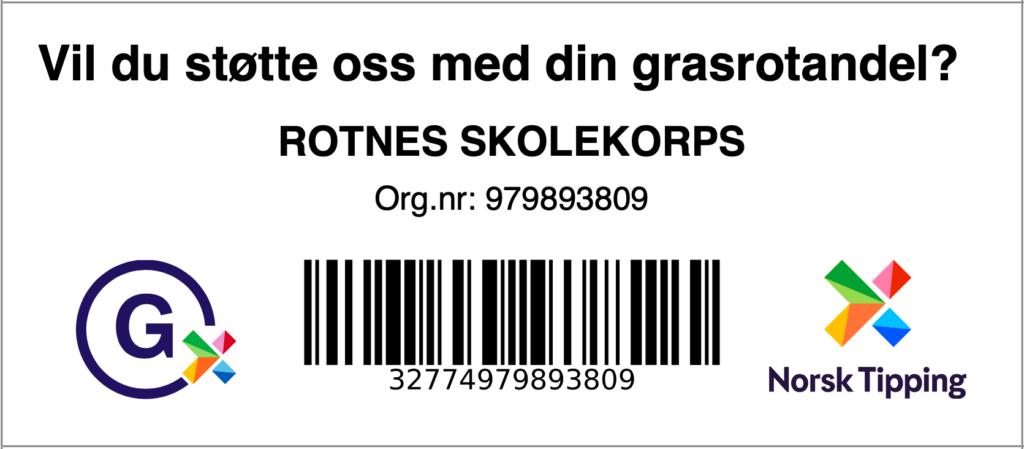 Barkode for grasrotandel til RSK